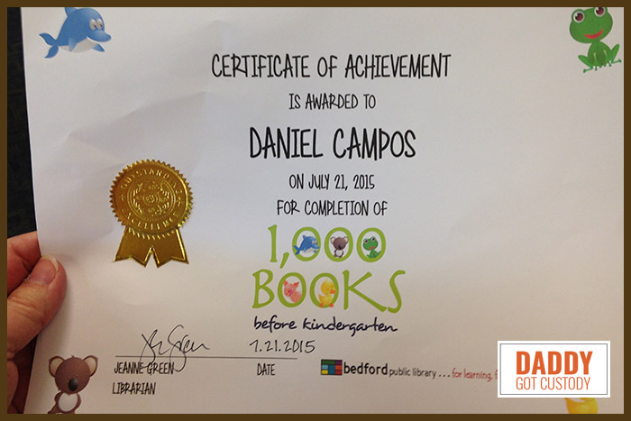 Daniel Campos Finished 1000 Books Before Kindergarten