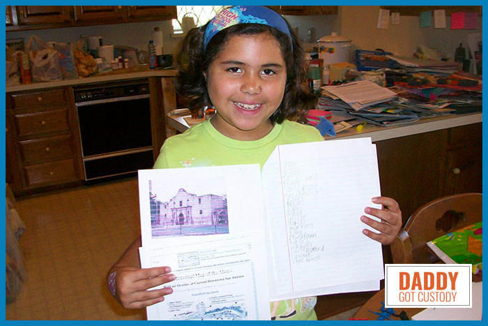 4th Grade Caitlyn doing Research on her Alamo Project