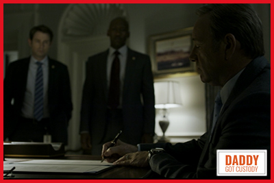 Frank Underwood signs the Bill