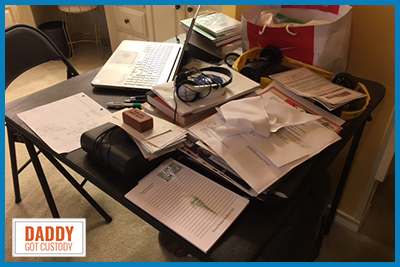 Slob Space, What's on Your Desk? http://DaddyGotCustody.com